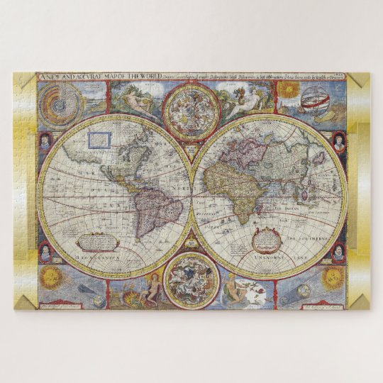 Vintage old world map jigsaw puzzle zazzle vintage old world map jigsaw puzzle gumiabroncs Image collections