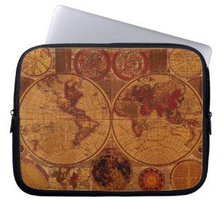 Vintage Old World Map  Laptop Sleeve