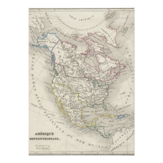 Vintage old world map maps The Americas Poster