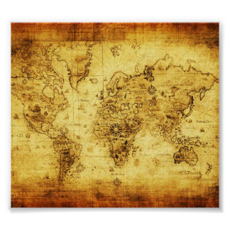 Old world map posters zazzle vintage old world map poster gumiabroncs Image collections
