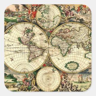 Vintage Old World Map Sticker