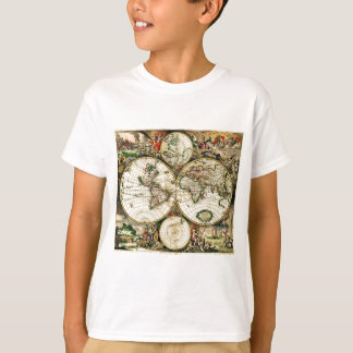 Vintage Old World Map T-Shirt