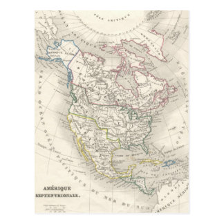 Vintage old world map - The Americas Postcard