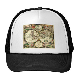 Vintage Old World Map Trucker Hat