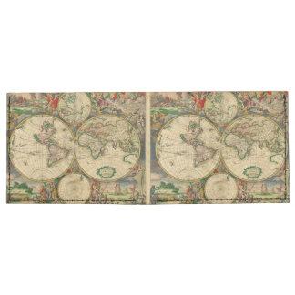 Vintage old world Maps Antique map Billfold Wallet