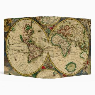 Vintage old world Maps Antique map Vinyl Binders