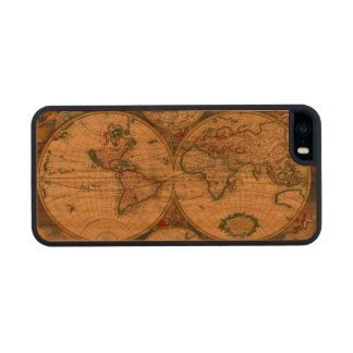 Vintage old world Maps Antique map Carved® Cherry iPhone 5 Slim Case