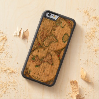 Vintage old world Maps Antique map Carved® Cherry iPhone 6 Bumper