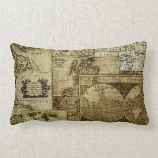 Vintage old world Maps Antique maps Throw Pillows