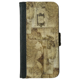 Vintage old world Maps Antique maps Wallet Phone Case For iPhone 6/6s