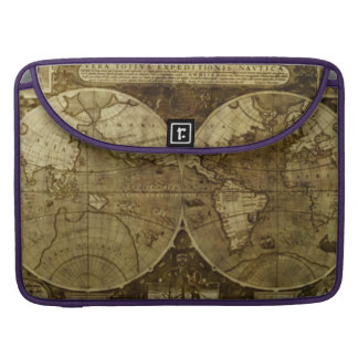 Vintage old world Maps Sleeves For MacBooks