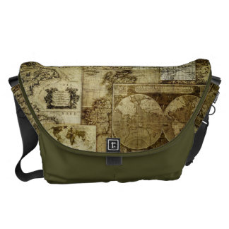 Vintage Old world maps Messenger Bag