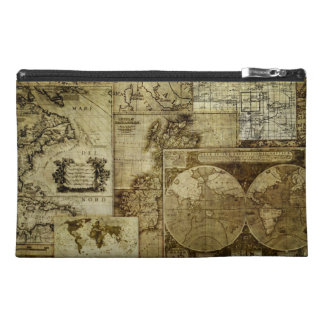 Vintage old world Maps Travel Accessory Bags