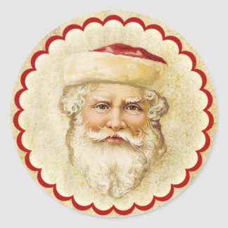Vintage Old World Santa Sticker