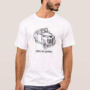 vintage car drawing t shirts t shirt design printing zazzle 2 Tone 85 Chevy Trucks vintage oldie car black ink drawing t shirt