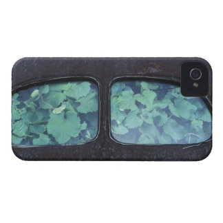 Vintage Oldsmobile car in decay with vines 2 iPhone 4 Case-Mate Case