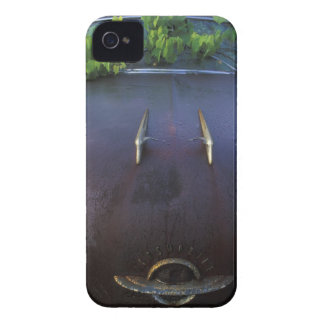 Vintage Oldsmobile car in decay with vines iPhone 4 Case-Mate Case