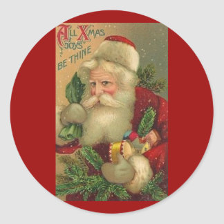 Vintage Ole Saint Nick with Toys Stickers