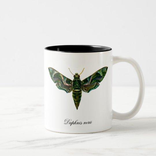 Vintage Oleander Hawk-moth Two-Tone Coffee Mug
