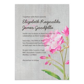Vintage Oleander Wedding Invitations