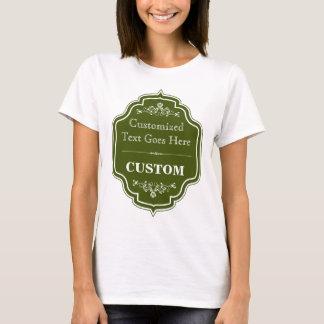 Vintage Olive Green Label T-Shirt
