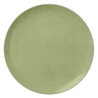 Vintage Olive Green Paper Parchment Background Dinner Plate