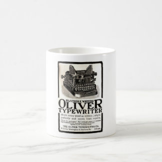 Vintage Oliver Typewriter Ad Mug