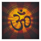 Vintage Om Symbol Print