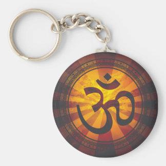 Vintage Om Symbol Print Keychain