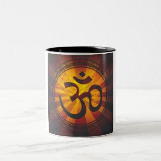 Vintage Om Symbol Print Mug