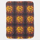 Vintage Om Symbol Swaddle Blanket