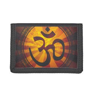 Vintage Om Symbol Trifold Wallets