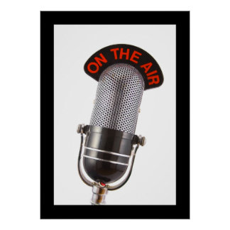 Vintage On The Air Microphone Poster