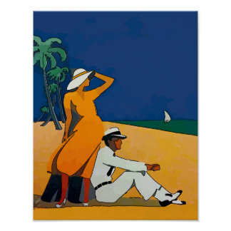Vintage On The Beach Poster