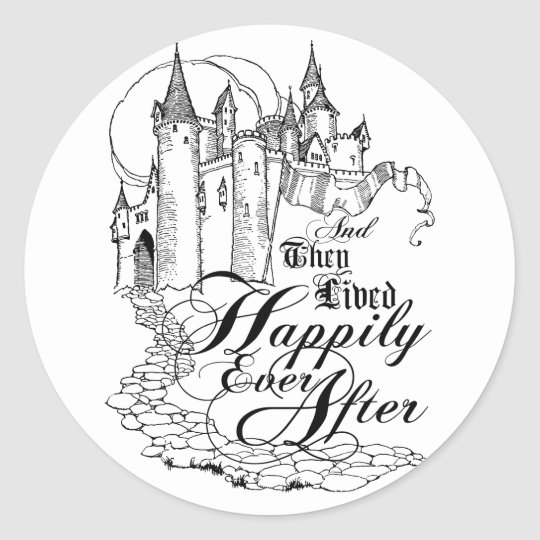 Vintage Once Upon a Time Apparel, Decor, and Gifts Classic Round Sticker