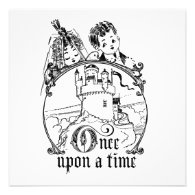 Vintage Once Upon a Time Apparel, Decor, and Gifts Custom Invitations