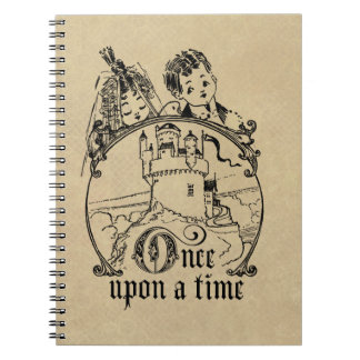 Vintage Once Upon a Time Apparel, Decor, and Gifts Notebook