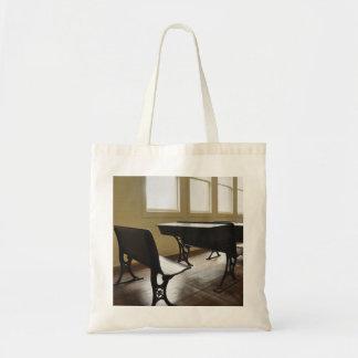 Vintage One- Room School House Desk Tote Bag
