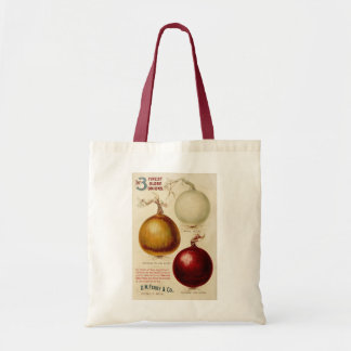 Vintage onion chart illustration bag