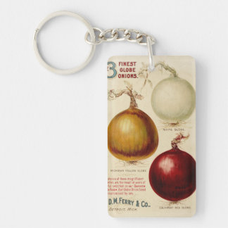 Vintage onion chart illustration keychain