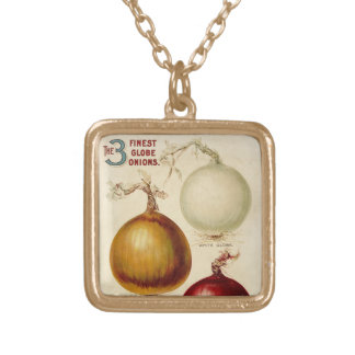 Vintage onion chart illustration pendant
