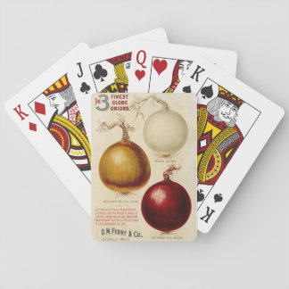Vintage onion chart illustration playing cards