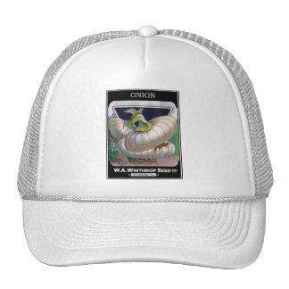Vintage Onion Seed Package Vegetable Art Trucker Hat