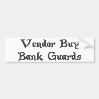 Vintage Online Gaming Vendor Buy Bank Guards Bumper Sticker