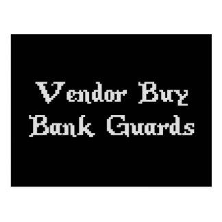 Vintage Online Gaming Vendor Buy Bank Guards Postcard