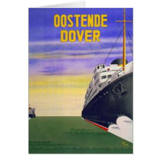 Vintage Oostende Dover Greeting Card
