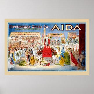 Vintage Opera Aida ad Print