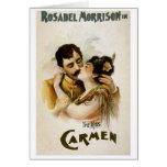 Vintage Opera Carmen Poster Greeting Card