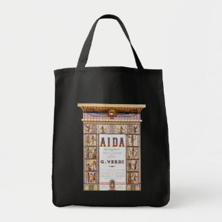 Vintage Opera Music, Egyptian Aida by Verdi Grocery Tote Bag