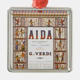 Vintage Opera Music, Egyptian Aida by Verdi Metal Ornament